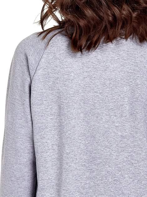 Szara klasyczna bluza damska z napisem WORK OUT                                  zdj.                                  6