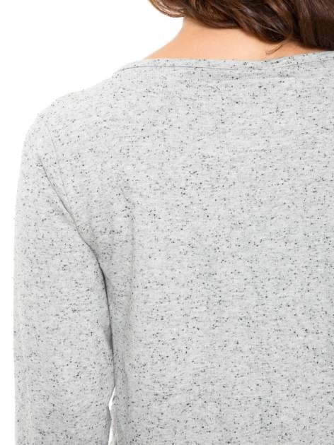 Szara melanżowa bluza dresowa z nietoperzowymi rękawami                                  zdj.                                  7