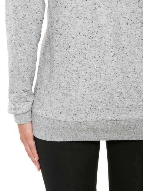 Szara melanżowa bluza dresowa z nietoperzowymi rękawami                                  zdj.                                  8