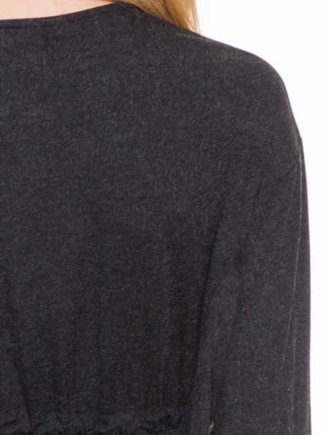 Szara melanżowa sukienka z wiązaniem w talii                                  zdj.                                  7