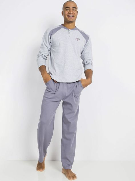 Szara męska piżama