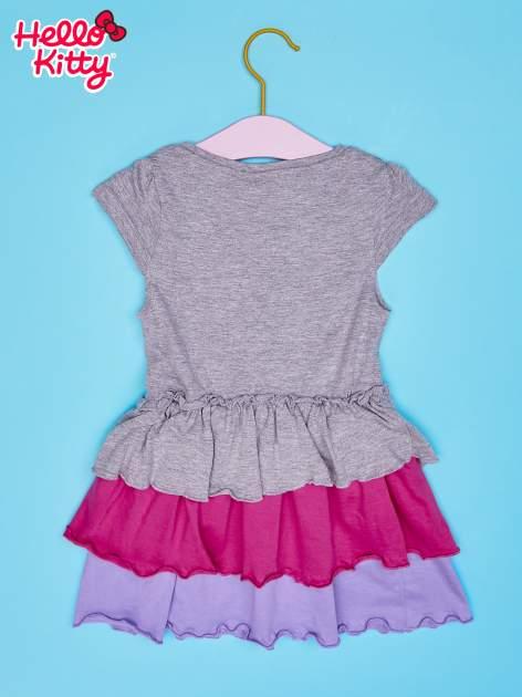 Szara spódnica dla dziewczynki HELLO KITTY z kokardką                                  zdj.                                  2