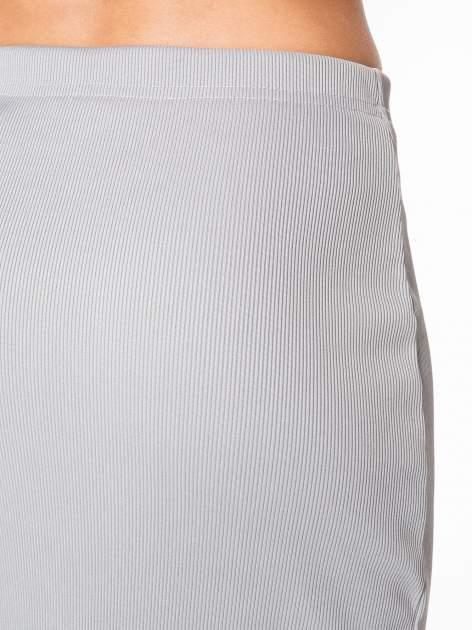 Szara spódnica midi z suwakiem z przodu                                  zdj.                                  6