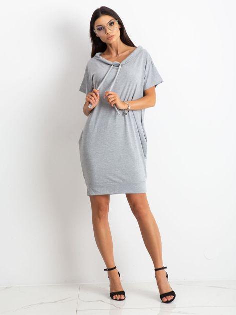 Szara sukienka Distinctiveness                              zdj.                              4
