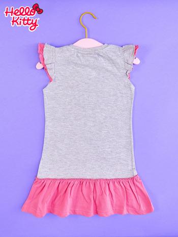 Szara sukienka dla dziewczynki HELLO KITTY                                  zdj.                                  2