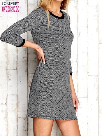 Szara sukienka z motywem plecionki                                  zdj.                                  3