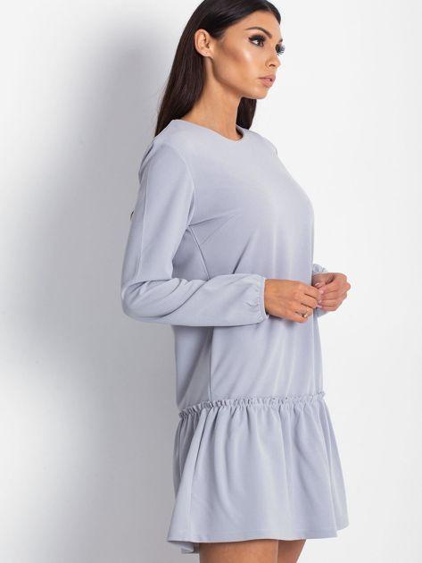 Szara sukienka z obniżonym stanem                              zdj.                              3