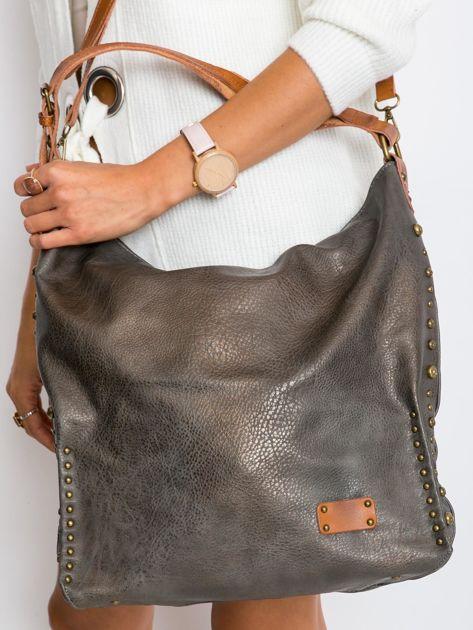 Szara torba na ramię z ekoskóry                              zdj.                              6