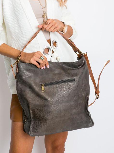 Szara torba na ramię z ekoskóry                              zdj.                              2