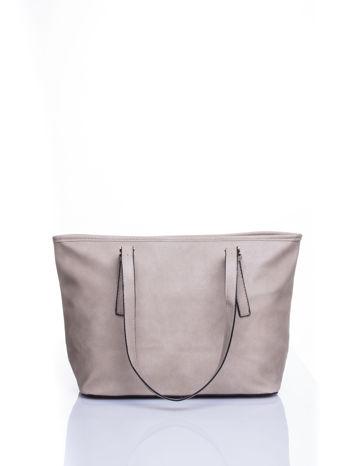 Szara torba shopper bag z regulowanymi rączkami                                  zdj.                                  3