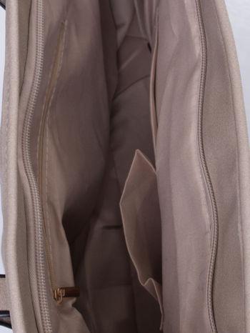 Szara torba shopper bag z regulowanymi rączkami                                  zdj.                                  5