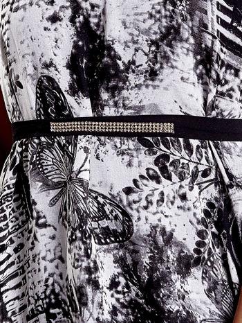 Szara wzorzysta sukienka maxi z dżetami                                   zdj.                                  5