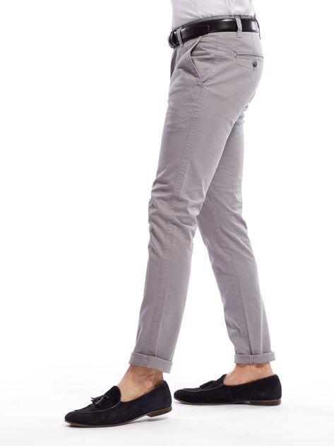 Szare bawełniane spodnie męskie chinosy                               zdj.                              12