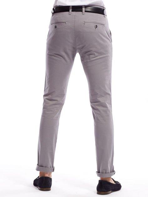 Szare bawełniane spodnie męskie chinosy                               zdj.                              9