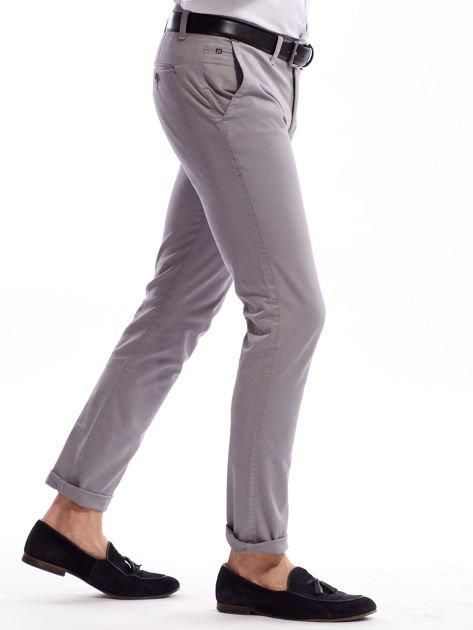 Szare bawełniane spodnie męskie chinosy                               zdj.                              3