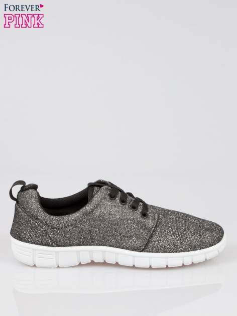Szare buty sportowe textile Diamonds z metaliczną nitką                                  zdj.                                  1