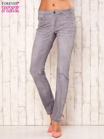 Szare dopasowane spodnie ze stretchem                                  zdj.                                  1