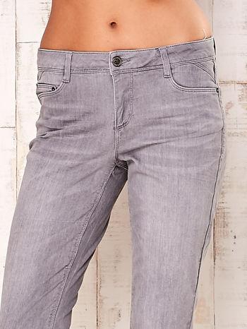 Szare dopasowane spodnie ze stretchem                                  zdj.                                  4