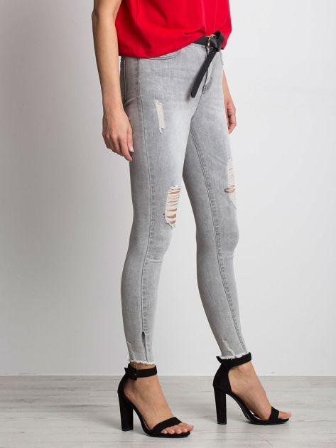 Szare jeansy Formula                              zdj.                              3