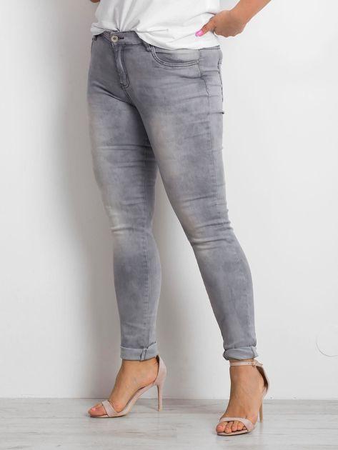 Szare jeansy plus size Clearly                              zdj.                              3