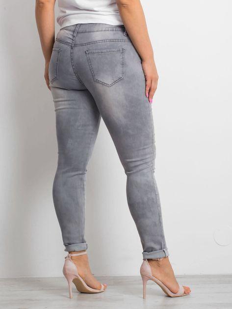 Szare jeansy plus size Clearly                              zdj.                              2