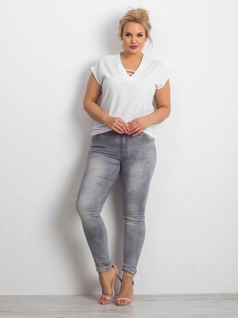 Szare jeansy plus size Clearly                              zdj.                              4