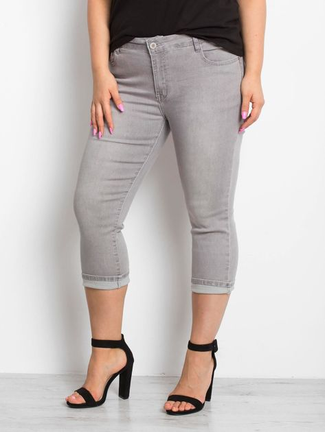 Szare jeansy plus size Sherbet                              zdj.                              1