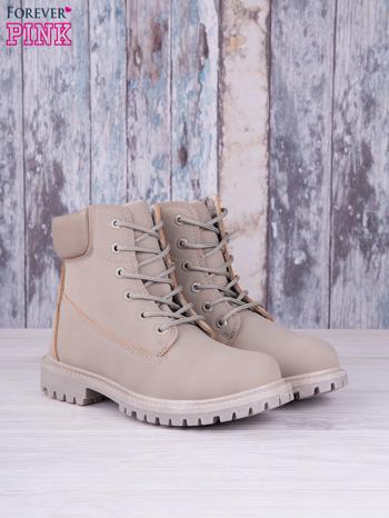 Szare jednolite buty trekkingowe Elyia damskie traperki ocieplane                                  zdj.                                  2