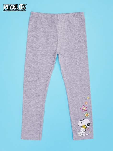 Szare legginsy dla dziewczynki SNOOPY
