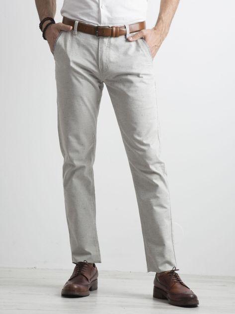 Szare męskie spodnie chino                              zdj.                              1