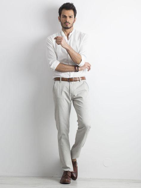Szare męskie spodnie chino                              zdj.                              4