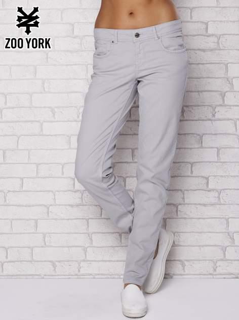 Szare spodnie materiałowe ze stretchem