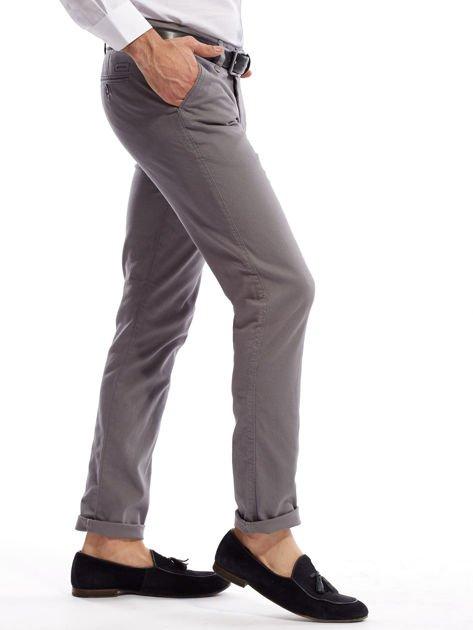 Szare spodnie męskie chinosy o prostym kroju                              zdj.                              12