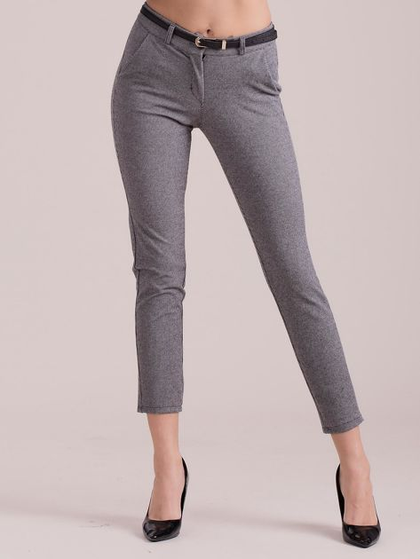 Szare spodnie w drobny wzór                              zdj.                              1