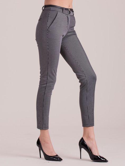 Szare spodnie w paski                               zdj.                              3