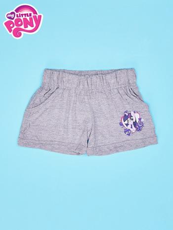 Szare szorty dla dziewczynki z fioletowym nadrukiem MY LITTLE PONY                                  zdj.                                  1