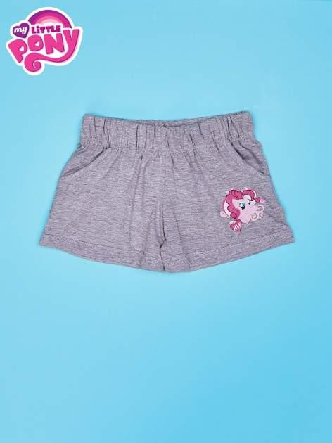 Szare szorty dla dziewczynki z różowym nadrukiem MY LITTLE PONY