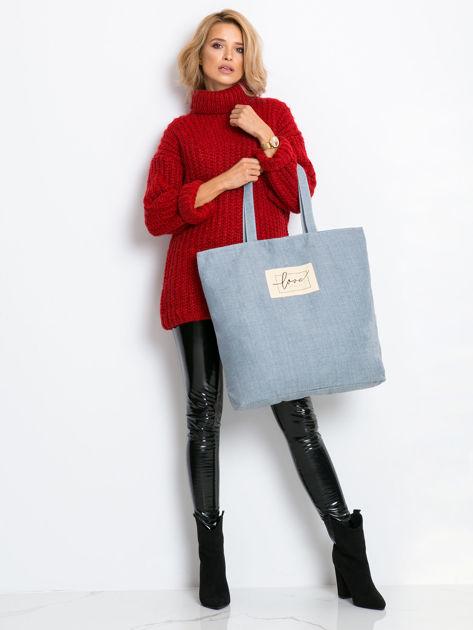 Szaro-niebieska duża uniwersalna torba                              zdj.                              4