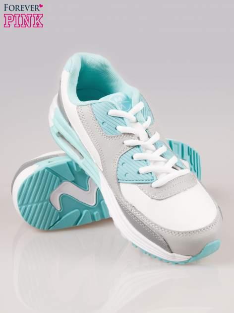 Szaro-niebieskie buty sportowe z poduszką powietrzną                                  zdj.                                  4