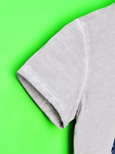Szary dekatyzowany t-shirt chłopięcy STAR WARS                                  zdj.                                  6