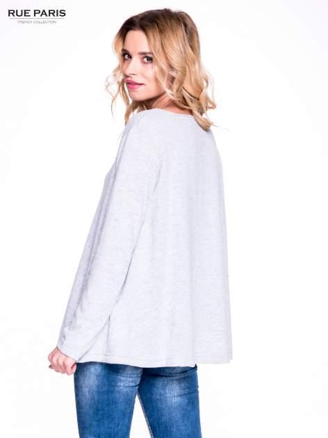 Szary klasyczny sweterek                                  zdj.                                  3