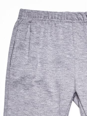Szary komplet dla dziewczynki bluza i spodnie                              zdj.                              8