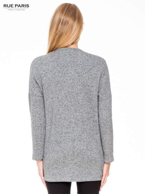 Szary melanżowy bluzożakiet z kieszeniami                                  zdj.                                  4