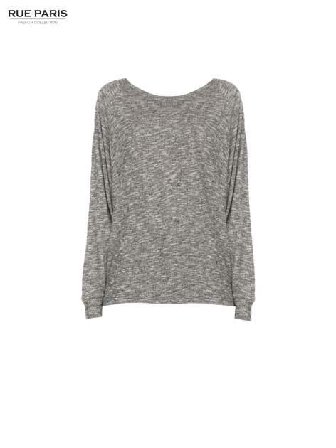 Szary melanżowy sweter z nietoperzowymi rękawami                                  zdj.                                  5