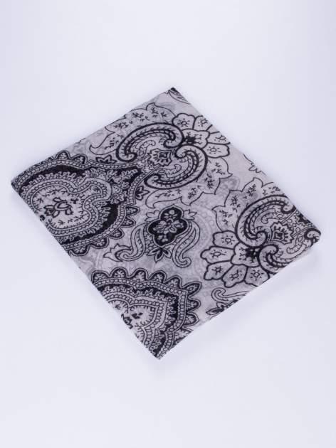 Szary orientalny szal we wzór paisley                                  zdj.                                  2