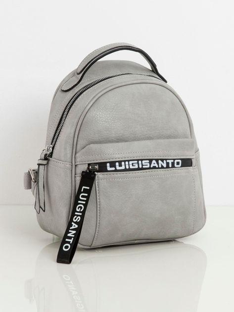 Szary plecak damski z ekoskóry LUIGISANTO