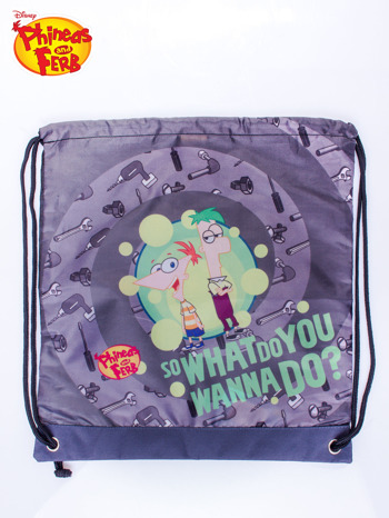 Szary plecak worek DISNEY Fineasz i Ferb                                   zdj.                                  3