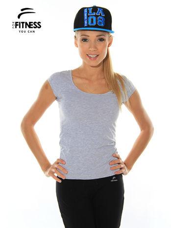 Szary prosty t-shirt For Fitness                                  zdj.                                  2
