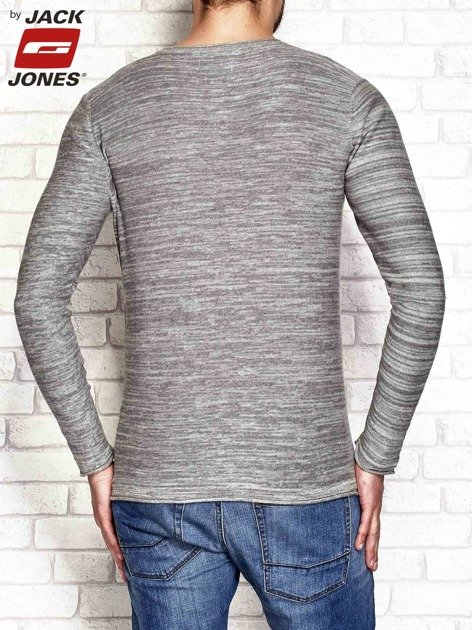 Szary sweter męski wzór melange