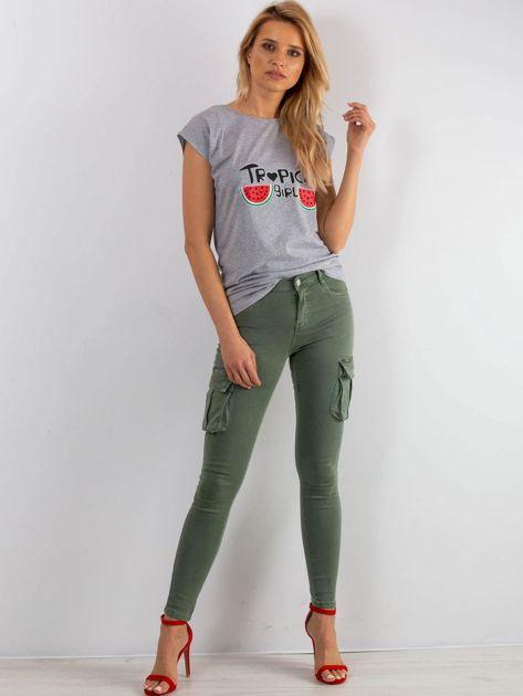 Szary t-shirt Perfectly                              zdj.                              4